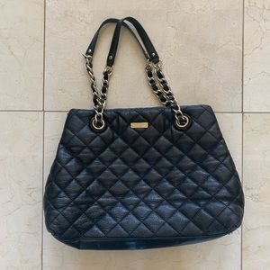 Kate Spade Leather Quilted Purse with Gold Chain